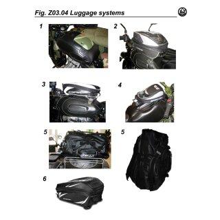 Bagster Tankrucksack Minea 12-21 L Volumen