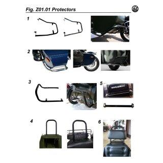 Sturzbügel Beiwagen hinten, leichte Ausführung, schwarz