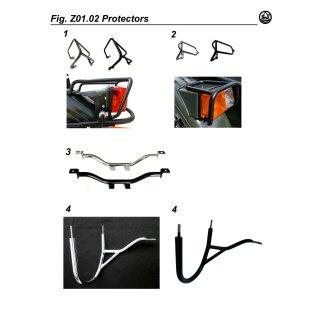 Schutzkorb für Motorrad Rückleuchte, chrom