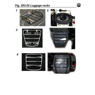 Gepäckträger für Seitenwagennase, schwarz