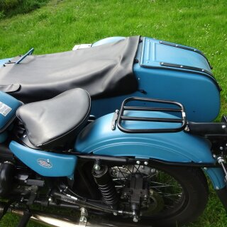 Gepäckträger für 2/3 Sitz, oval, schwarz